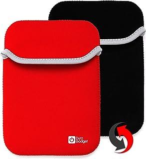 電子ブックBQのセルバンテス3のためのDURAGADGETリバーシブルカバー(ノベルティ2016) - 6インチ - 安い、ディスカウント価格黒と赤 - ネオプレン製