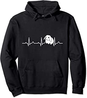 Holland Lop Netherland Dwarf Heartbeat Mama Honey Bunny Mom Pullover Hoodie
