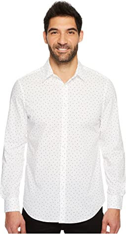 Perry Ellis - Long Sleeve Mini Arrow Button Down Shirt