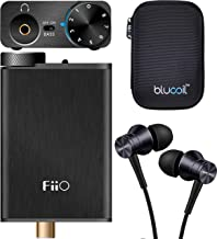 FiiO E10K Black USB DAC and Headphone Amplifier Bundle with 1MORE E1009 Piston Fit Headphones (Space Gray), and Blucoil Portable Hardcase