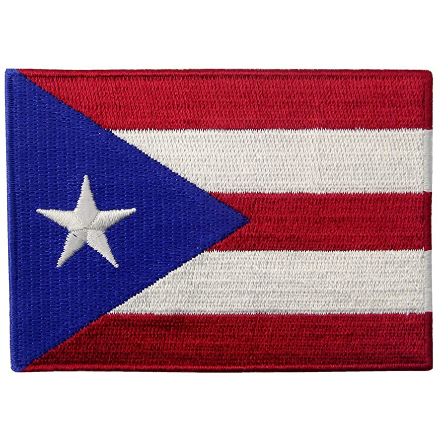 Puerto Rico Flag Embroidered National Emblem Puerto Rican Iron On Sew On Patch