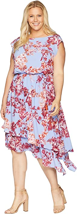 Plus Size Barque Floral Dress