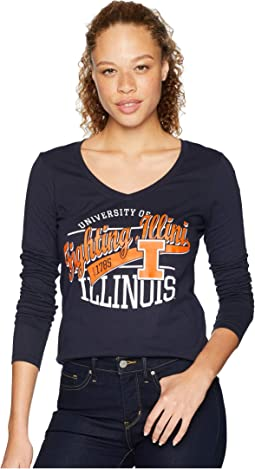 Illinois Fighting Illini Long Sleeve V-Neck Tee