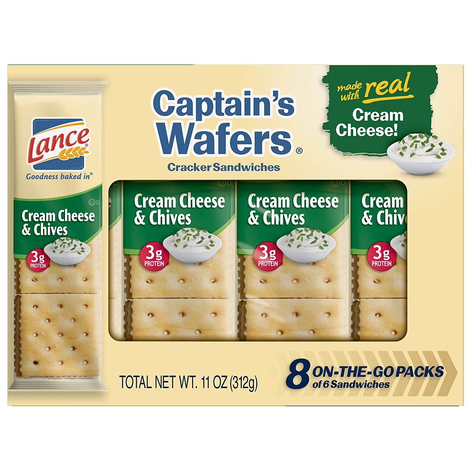 Lance Captain's Wafers Crackers Limited price Cream Financial sales sale - Cheese 3 Boxes Chives