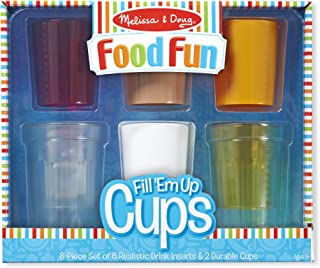 Melissa & Doug Create-A-Meal Food Fun – Fill 'Em Up Cups - Play Food and Kitchen Accessories Role Play Toy