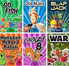 Regal Games Classic Card Games Including Old Maid, Go Fish, Slapjack, Crazy 8's, War, Silly Monster Memory Match (All 6 Ga...