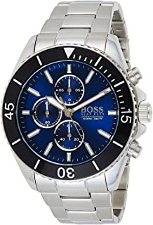 Hugo Boss Mens Quartz Wrist Watch, Chronograph and Stainless Steel- 1513704