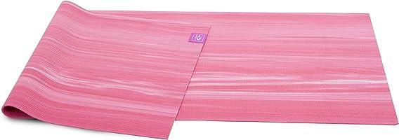 Abilica YogaMat Nature Fitness Träning och yogamatta 175 x 61 cm - Miljövänlig och 100% biologiskt nedbrytbar (rosa)