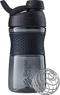 BlenderBottle SportMixer Twist Cap Tritan Grip Shaker Bottle, 28-Ounce, Black