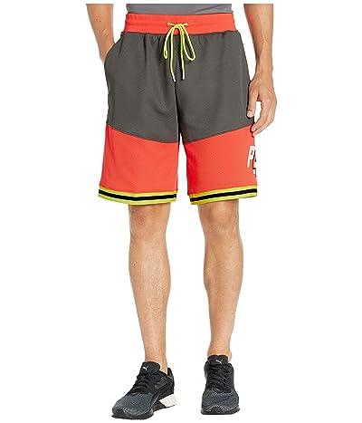 PUMA LuXTG Basketball Shorts (Smoked Pearl/Nrgy Red/Puma Black/Yellow Alert) Men