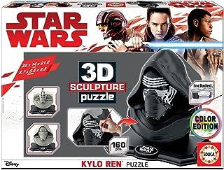 Educa-Educa-3D Educa-3D Sculpture Puzzle Star Wars Kylo Ren. Assembler et Peindre. Peinture Incluse. +6 Ans. Ref, 17802, M...