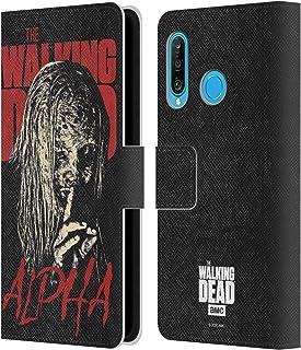 Head Case Designs Offizielle AMC The Walking Dead Alpha Staffel 10 Darsteller Portraits Leder Brieftaschen Handyhülle Hülle Huelle kompatibel mit Huawei P30 Lite/Nova 4e