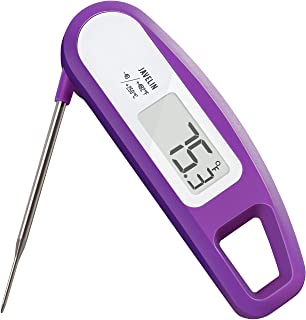 Lavatools PT12 Javelin Digital Instant Read Meat Thermometer for Kitchen, Food Cooking, Grill, BBQ, Smoker, Candy, Home Brewing, Coffee, and Oil Deep Frying (Grape)
