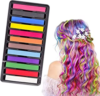 Hair Chalk,Hair Chalk Dye,Temporary Hair Chalk,Washable Hair Chalk For Firls DIY Makeup Gifts for Girls on Birthday Party, Cosplay, Halloween and Christmas
