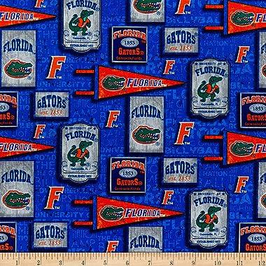 NCAA Florida Gators Vintage Pennant Cotton Multi Fabric by the Yard