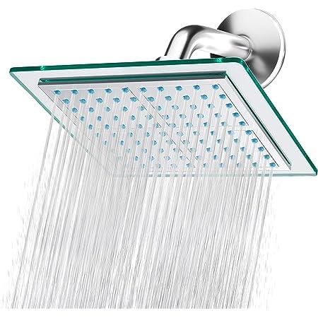 "Blue Ocean 8"" SH6021A High Pressure ABS-Polished Chrome Bath Rainfall Shower Head | Easy Installation | Adjustable Angles"