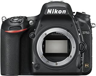 Nikon D750 - Cámara réflex digital de 24.3 Mp (pantalla 3.2 vídeo Full HD) color negro - Solo cuerpo