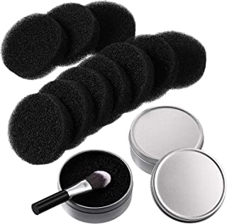 Makeup Brush Cleaner 2 in 1 Color Removal Sponge for Eye Shadow Blush Color Foundation Make-up Removals from Makeup Brush to Switch Color (6 Packs)