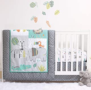 The Peanutshell Safari Crib Bedding Sets for Boys | 3 Piece Nursery Set | Crib Comforter, Fitted Crib Sheet, Crib Skirt In...