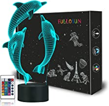 Nachtlampje voor Kids Ocean Dolfijn 3D Nachtlampje Bruinvis Nachtlampje 16 Kleur Veranderende Xmas Halloween Verjaardagsca...