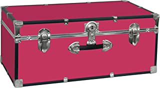 Seward Trunk College Dorm and Camp Storage Footlocker Trunk, Pink, 30-Inch (SWD5120-30)