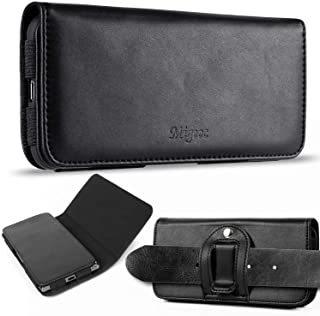 Migeec Leather Cell Phone Holster Case with Belt Clip Pouch and Belt Loop [Magnetic Closure] for iPhone 13 / 12 / 11 Pro M...