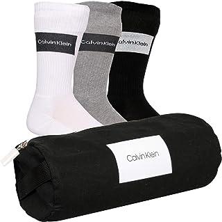 3-pack Logotipo Parche Calcetines Para Hombre Calcetines Bolsa De Regalo, Negro/Blanco/Gris