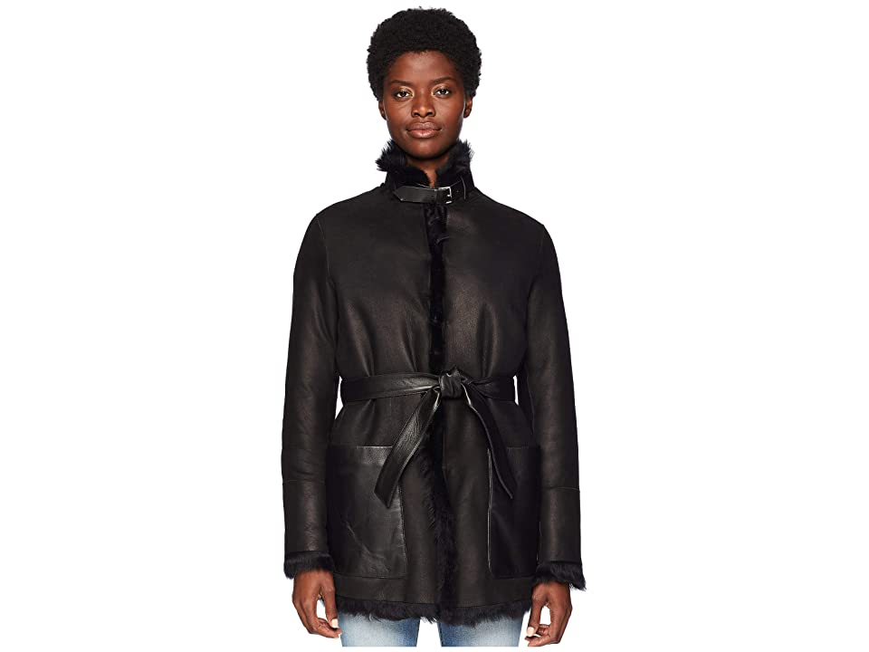BELSTAFF Borrowdale Shearling Toscana Reversible Jacket (Black) Women