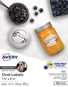 Avery Printable Blank Oval Labels, 1.5