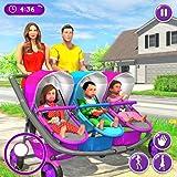 Nouveau simulateur de famille de triplés de bébé de mère