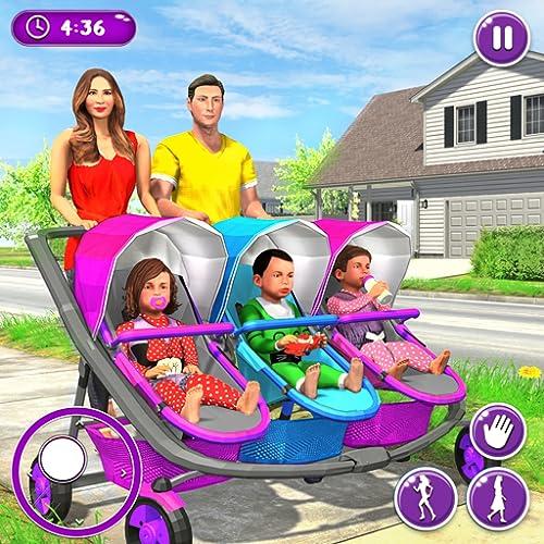 Neue Mutter Baby Drillinge Familie Simulator