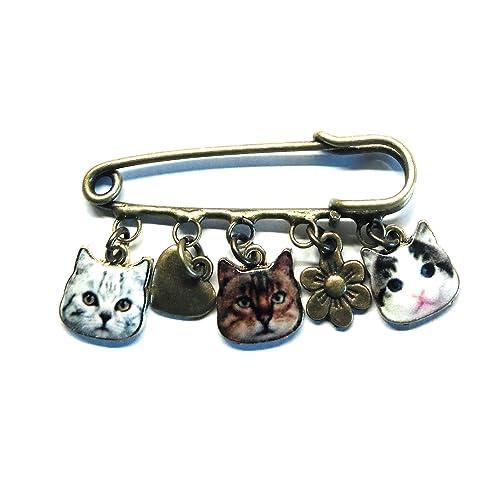Julz Beads 10 Kilt Pins Blank 5 Holes 5cm Silver Plated Brooches J13869B