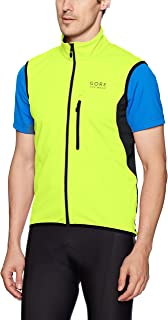GORE BIKE WEAR Men's Soft Shell Cycling Vest, GORE WINDSTOPPER, Vest, Size: XL, Neon yellow/Black, VWELEM