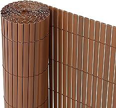 Ribelli® PVC privacyscherm - Zichtbrekend hek - Windbescherming voor balkons, kleur:bruine, lengte:10 meter, hoogte:90 cm