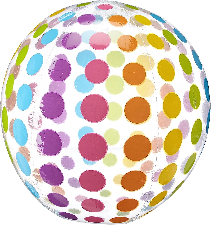Intex Jumbo Inflatable Colorful Polka Giant Dot Ball El Paso Mall New product! New type Set Beach