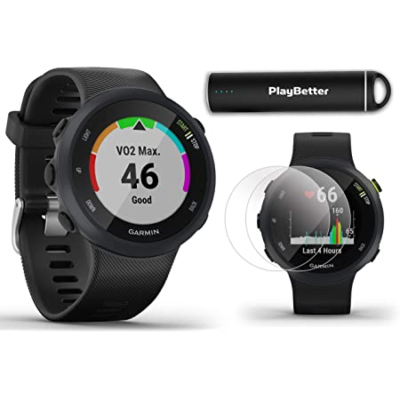 - Garmin Forerunner 45 GPS Heart Rate Monitor Running Smartwatch Black Renewed