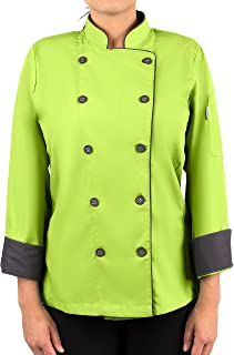 KNG Womens Long Sleeve Active Chef Coat