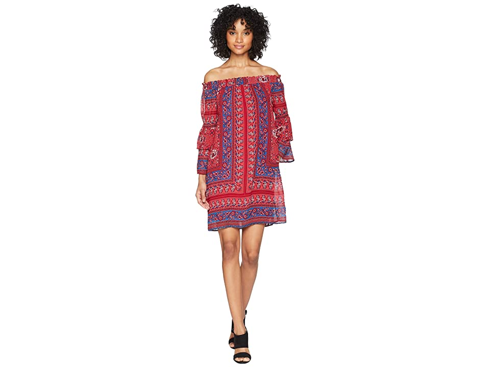 KUT from the Kloth Jaida Off Shoulder Dress (Bright Red) Women