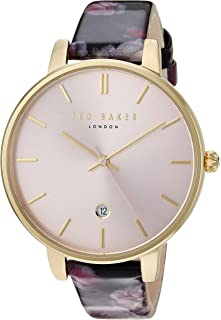 69d51ca9621e Ted Baker Women s Kate Stainless Steel Quartz Watch with Leather Strap