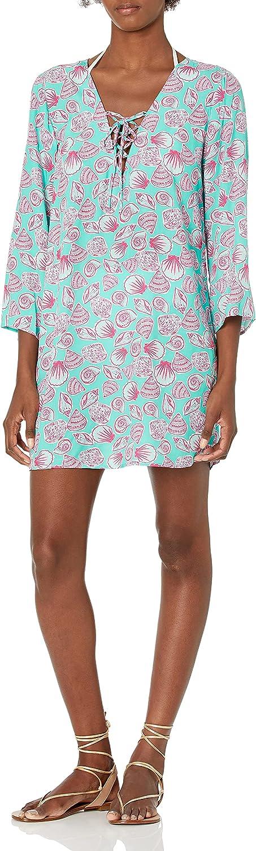 Caribbean Joe Women's Standard Lace Miami Mall Tunic Cover Up Max 72% OFF