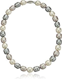 Majorica 14mm Baroque SS Necklace