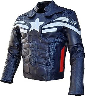 SRH SRHides Men's Motorcycle Captain Winter Soldier Leather Jacket