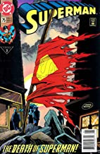 Superman #75 The Death of Superman First Printing News Stand Edition with UPC Code on Cover