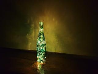 BOTTIGLIA DECORATIVA con Luce/Verde, Trasparente: