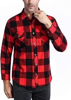 mens plaid fleece shirt