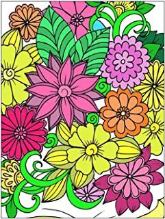 ART4U Paint & Create Color Canvas Kit, Paint by No Number, Draw Your own Design, for Kids, Students, Adults Beginner- Flowers 9x12 inch with Brushes and Acrylic Pigment