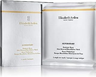 Elizabeth Arden SUPERSTART Probiotic Boost, Skin Renewal Biocellulose Mask (Pack of 4)