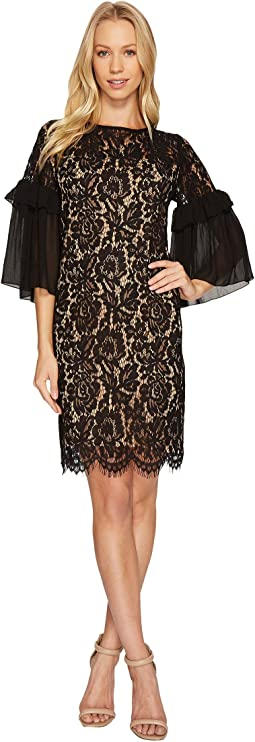 Karen Kane - Ruffle Sleeve Lace Dress