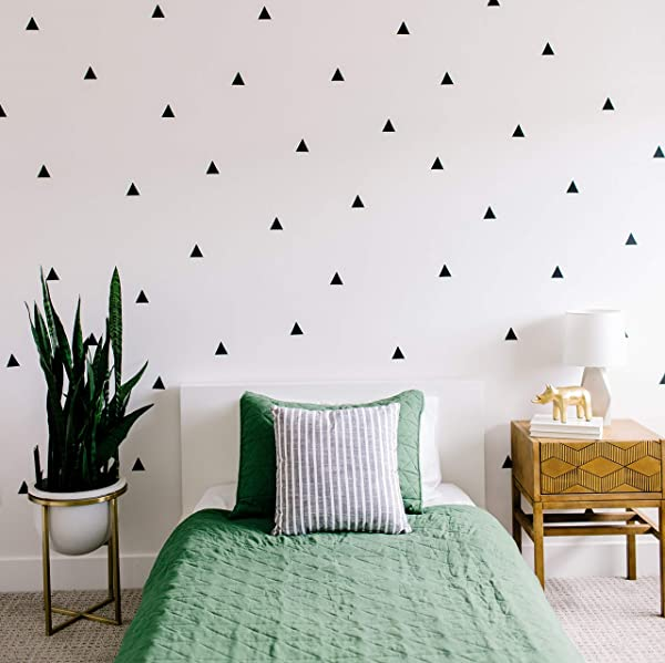 Modern Maxwell Wall Art Decals For Boys Girls Nursery Bedroom Living Room Arizona Black Triangle Room Sticker 80 Pieces