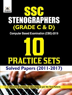 SSC Stenographer (Grade C And D) Computer Based Examination (CBE)-2019 10 Practice Sets